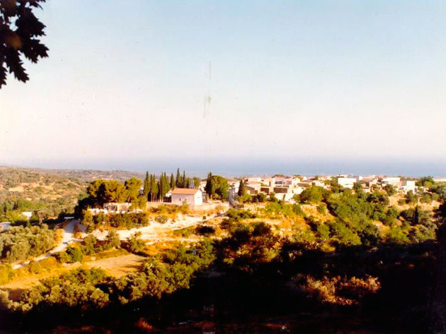 The area around the villa