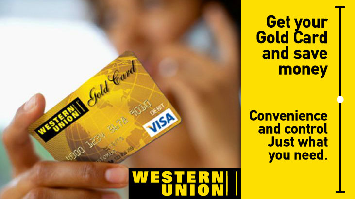 Get your Gold Card of Western Union - Platanos Tours