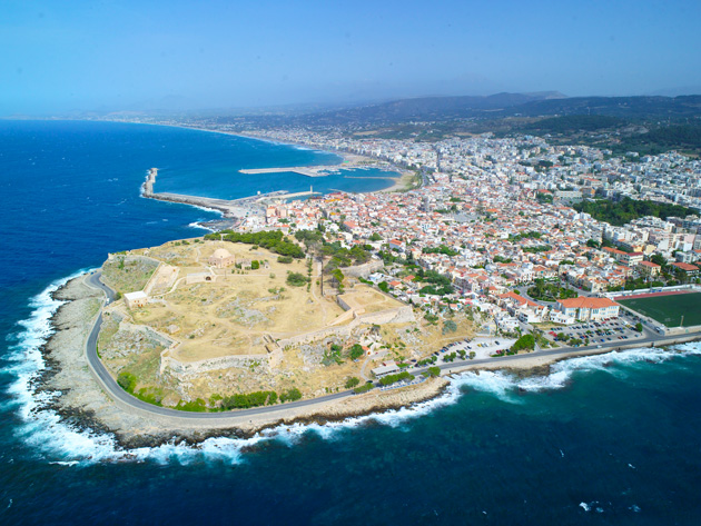 Fortress and Rethymno town