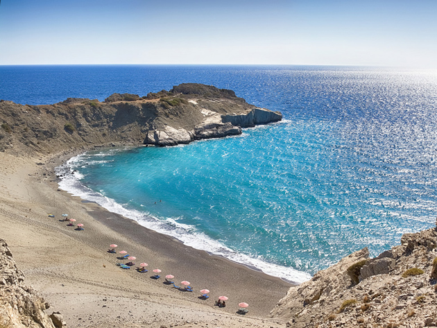 Agios Pavlos beach, South coast