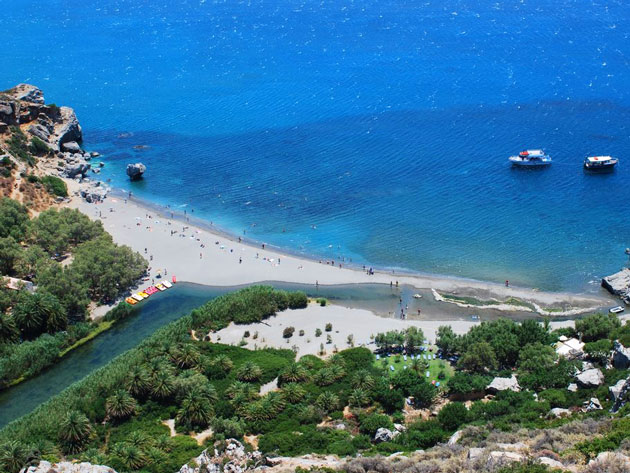 Preveli beach - South coast
