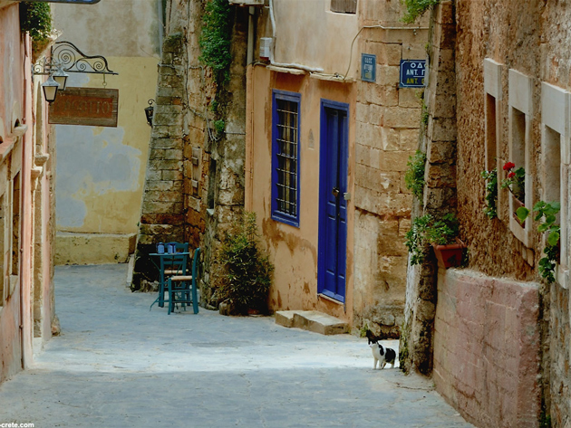 Narrow streets of Rethymno