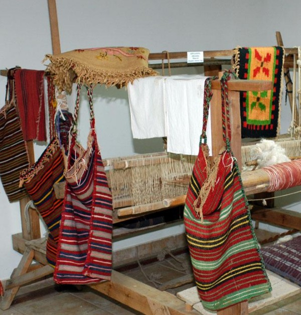 Women wove clothes, rugs and also bags. - Women wove clothes, rugs and also bags.