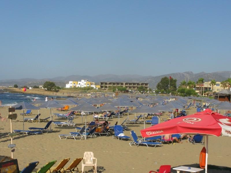 Malia beach. - Malia beach.