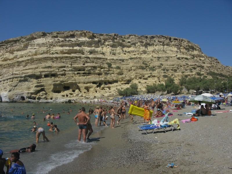 Matala beach. - Matala beach.
