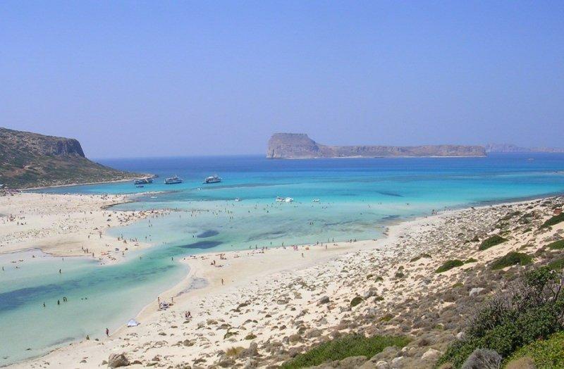 Balos large beach. - Balos large beach.