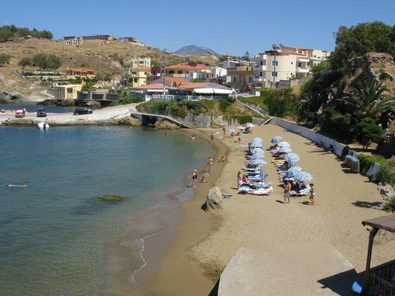 The beach in the port. - The beach in the port.