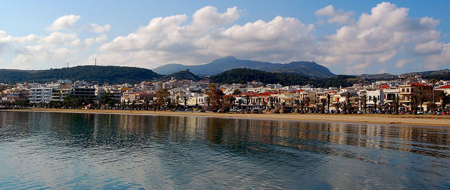 The beach of Rethymno