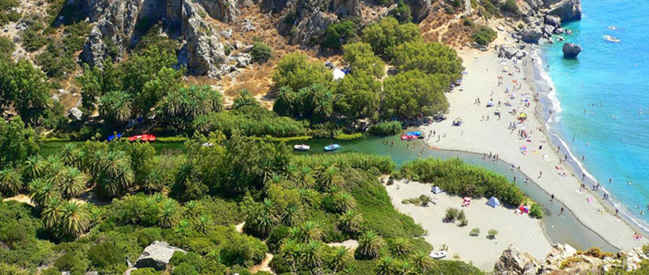 Preveli beach, sometimes known locally as