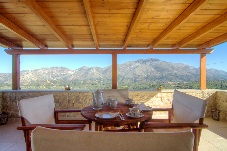 Enjoy your coffee while admiring the mountain view