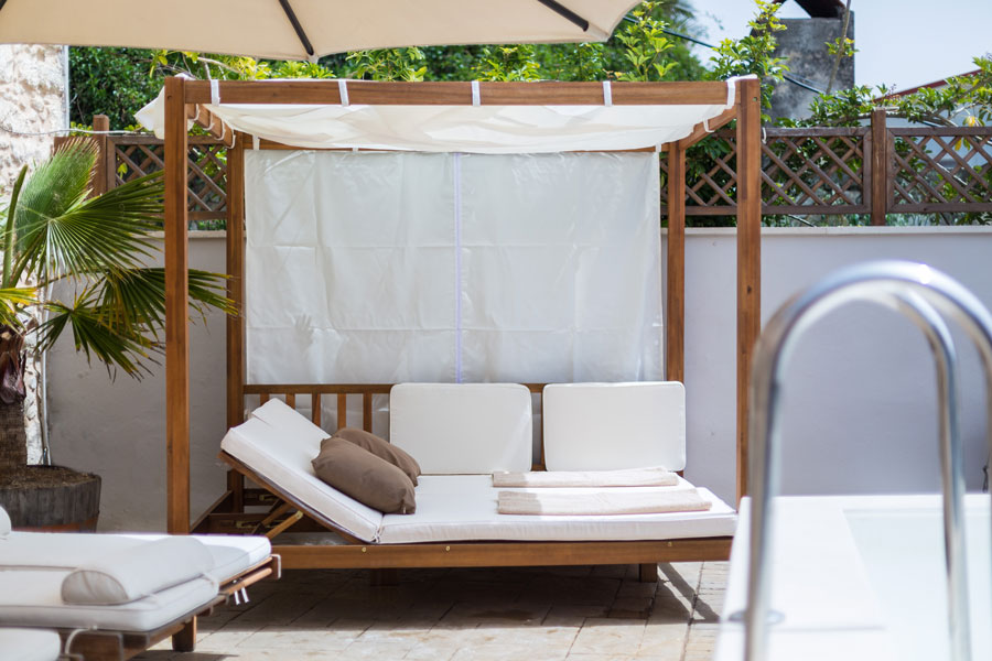 Gazebo Bed by the pool