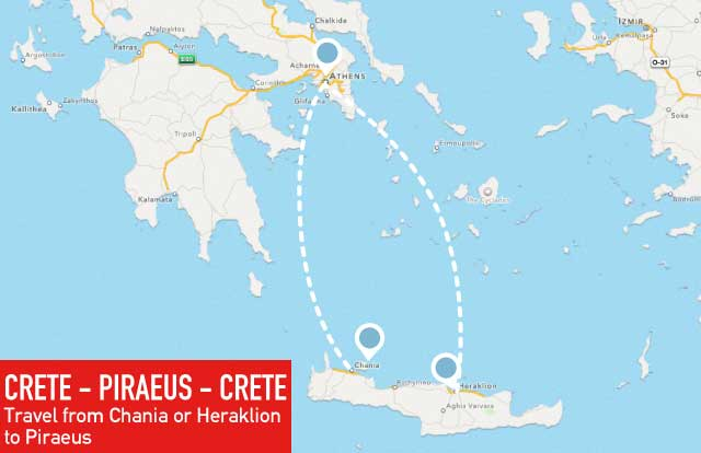 Kreta – Piräus – Kreta