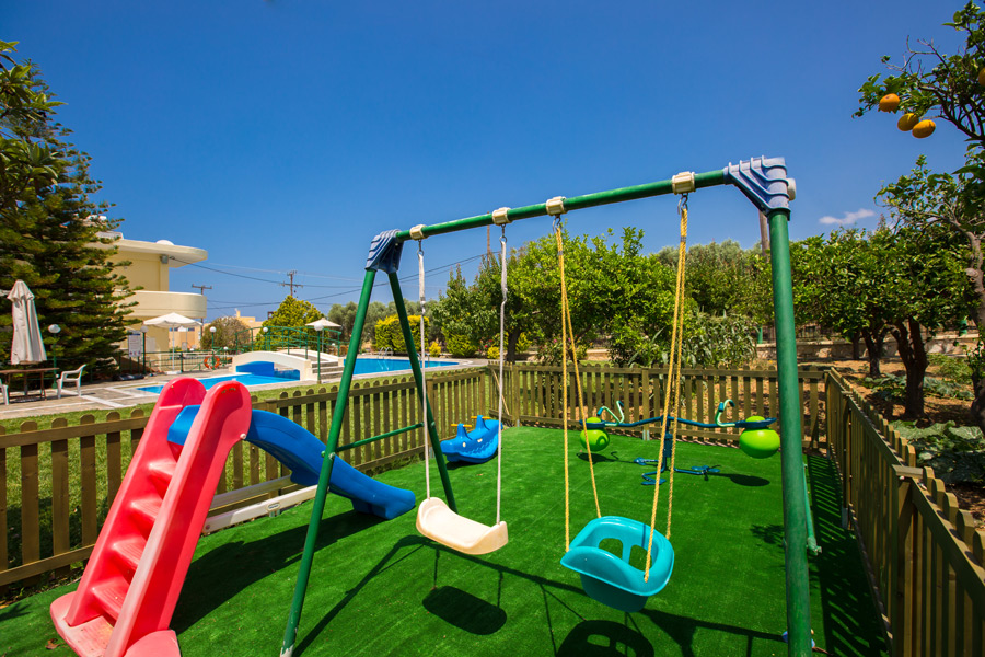 Outdoors -  Fenced children's playground
