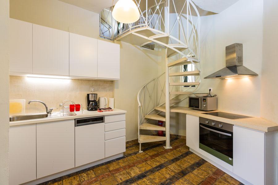 Indoors - kitchen area