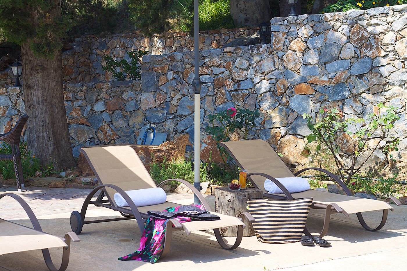 Outdoors - Enjoy relaxing in our pool side!