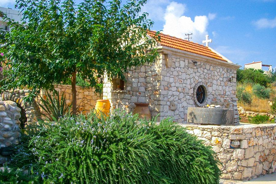 Outdoor - Our garden and a small church
