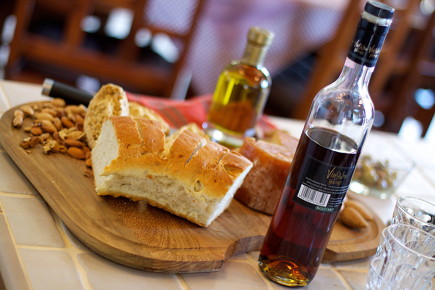 Indoors - Enjoy Greek cuisine in our villa!