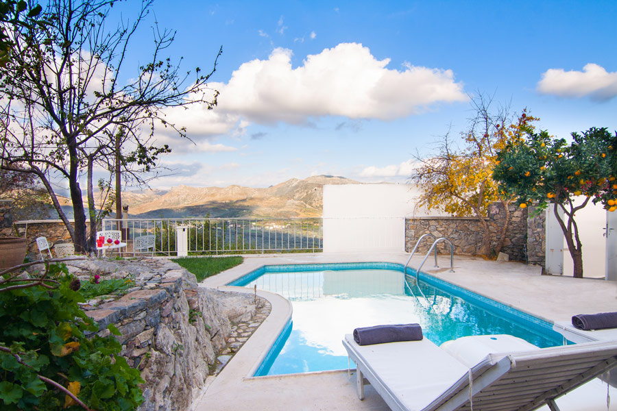 Outdoor - The pool area with full privacy and views to the valley