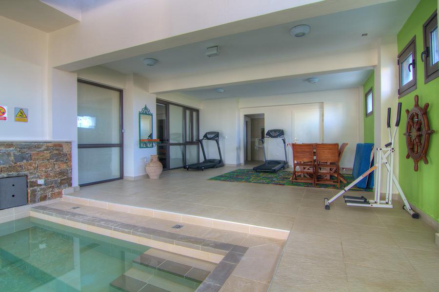 Indoor - Gym area next to the indoor pool