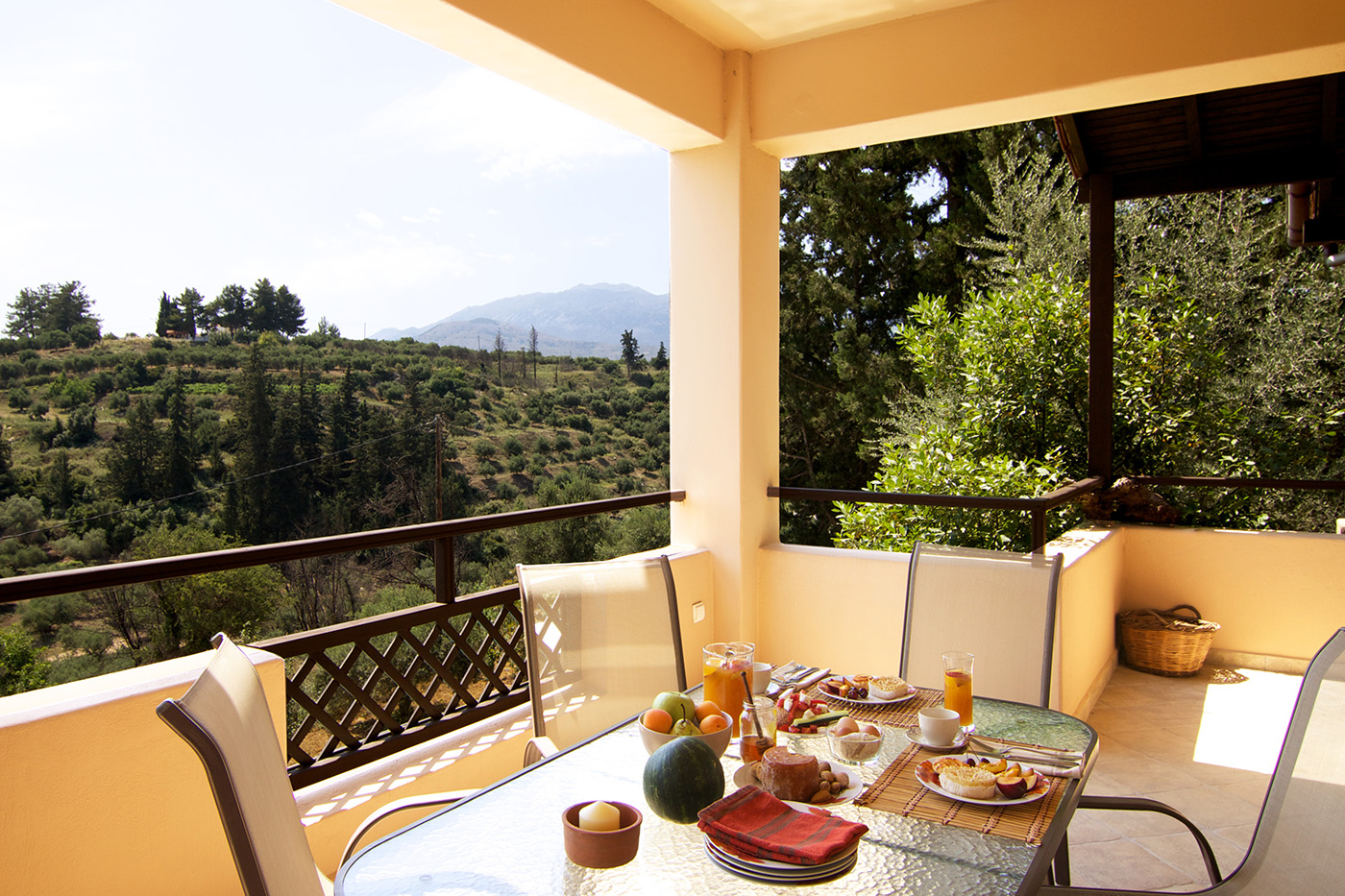 Outdoors - Panoramic view from the veranda