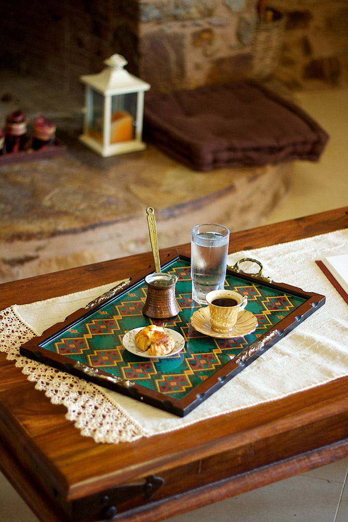 Indoors - Enjoy your coffee in our living room!