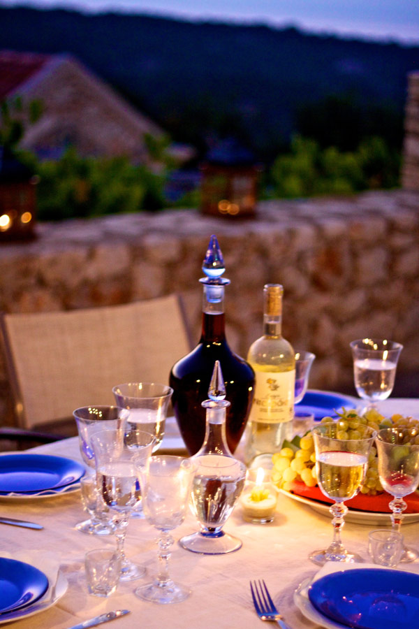 Outdoor - Enjoy Cretan cuisine in our villa
